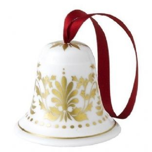 Royal Crown Derby Gold Bell Christmas Tree Decoration
